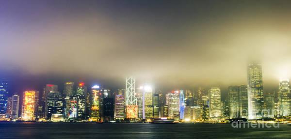 Hongkong Photograph - Victoria Harbour At Night Hong Kong by Tuimages