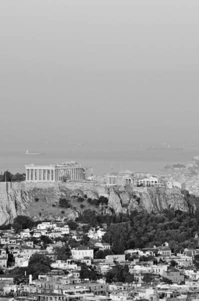 Erechtheion Photograph - View Of Acropolis From Lycabettus Hill by George Atsametakis