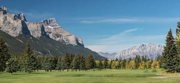 Canmore Wall Art - Photograph - View Of The Canmore Golf Course, Mount by Panoramic Images