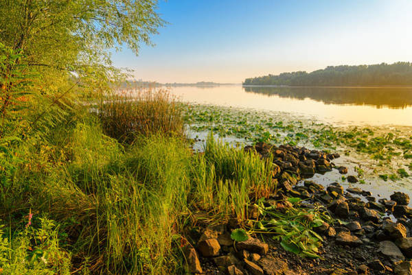 Dnieper Photograph - View Of The Dniper River At Morning by Alain De Maximy
