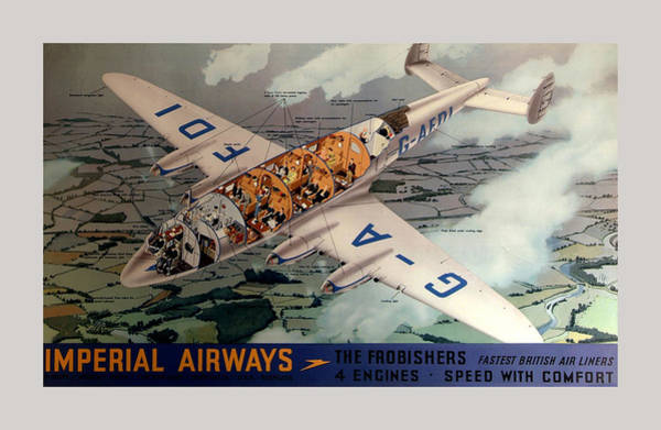 Photograph - Vintage Airline Ad 1939 by Andrew Fare