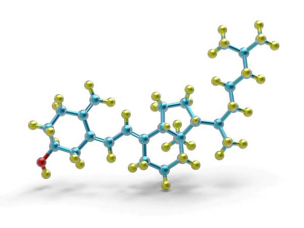 Wall Art - Photograph - Vitamin D Molecule by Alfred Pasieka/science Photo Library