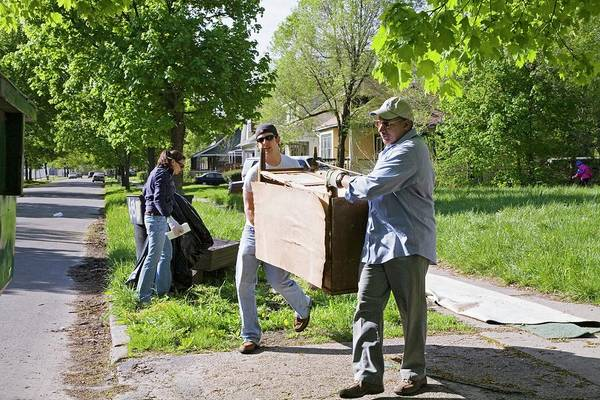 Non Profit Photograph - Volunteers Clearing Rubbish by Jim West