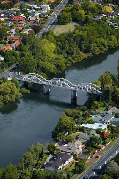 Fairfield Photograph - Waikato River And Fairfield Bridge (1937 by David Wall