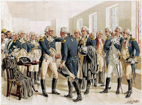 Wall Art - Drawing - Washington Farewell, 1783 by Granger