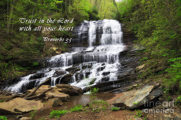 Photograph - Waterfall With Scripture by Jill Lang