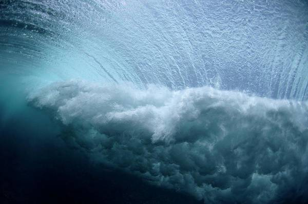 Foaming Wall Art - Photograph - Waves Crashing by Scubazoo/science Photo Library