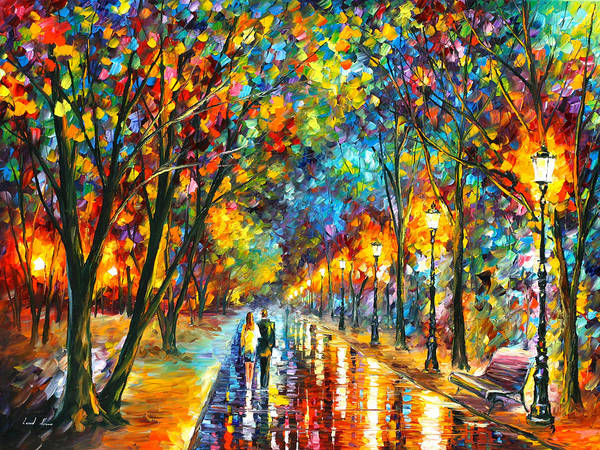 Alley Wall Art - Painting - When Dreams Come True by Leonid Afremov