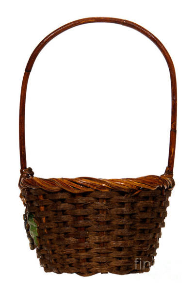 Wicker Wall Art - Photograph - Wicker Basket Number Ten by Olivier Le Queinec