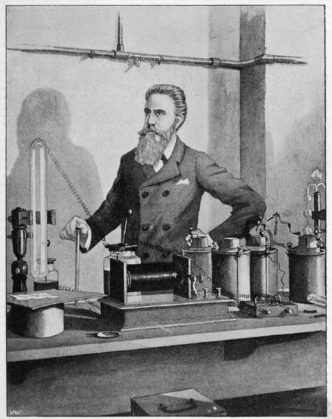 Wall Art - Drawing - Wilhelm Conrad Rontgen (1845-1923) by Mary Evans Picture Library