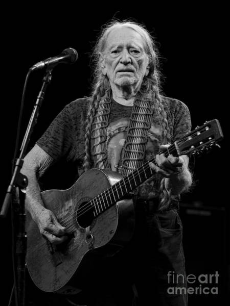 Harrahs Photograph - Willie Nelson by David Oppenheimer