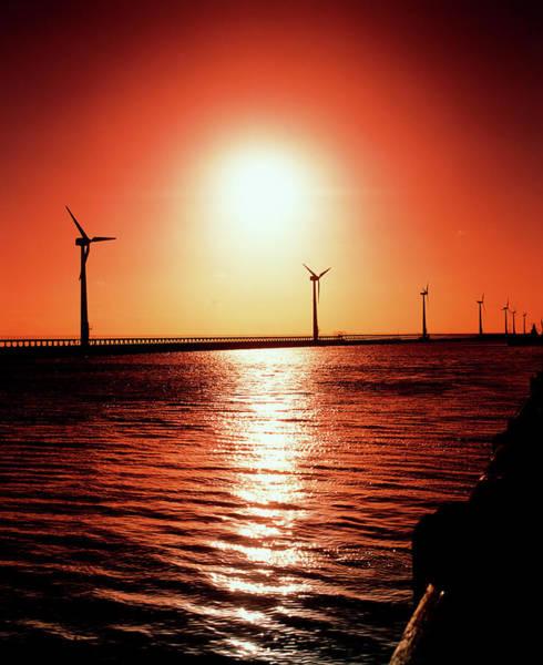 Wall Art - Photograph - Wind Farm by Martin Bond/science Photo Library