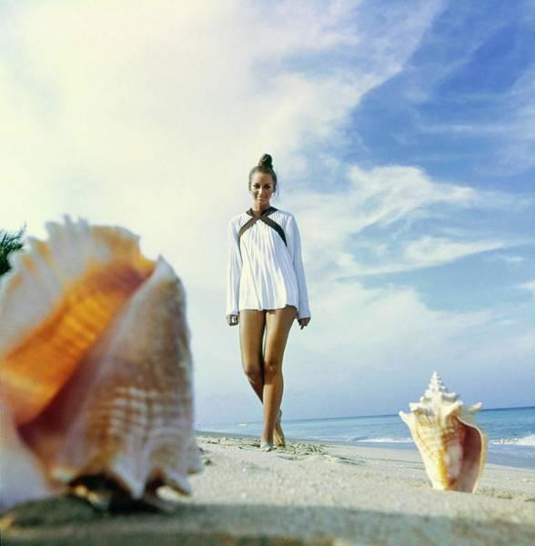 Seashell Photograph - Windsor Elliott On A Barbados Beach by Arnaud de Rosnay