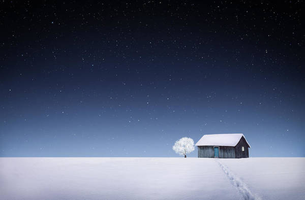 Farmhouse Photograph - Winter by Bess Hamiti