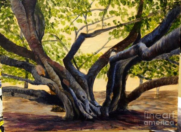 Painting - Wip Banyan Tree by Darice Machel McGuire