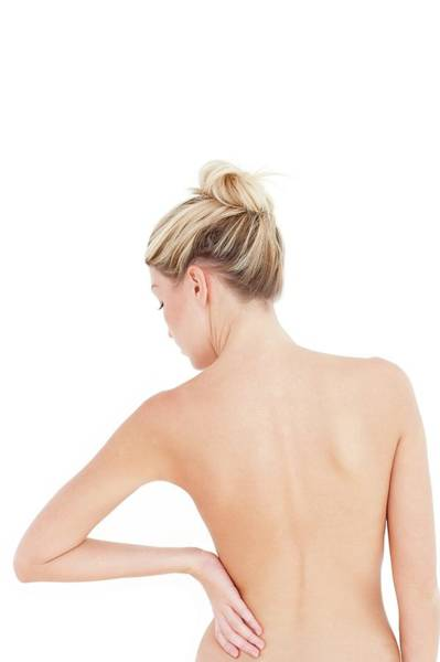 Buns Photograph - Woman's Back by Ian Hooton/science Photo Library