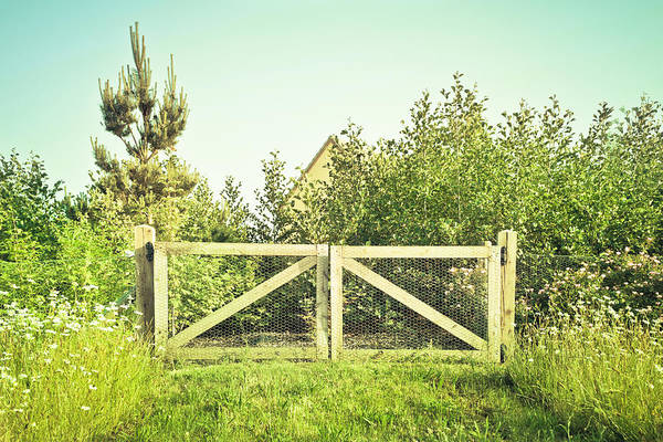 Idyll Photograph - Wooden Gate by Tom Gowanlock