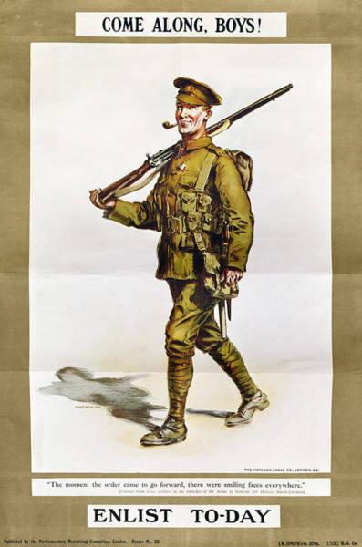 Recruitment Painting - World War I Poster by Granger