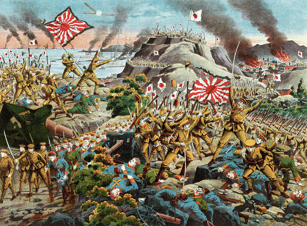 Wall Art - Painting - World War I Tsingtao by Granger