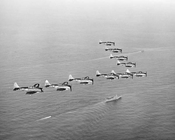 Wall Art - Photograph - World War II: U.s. Bombers by Granger