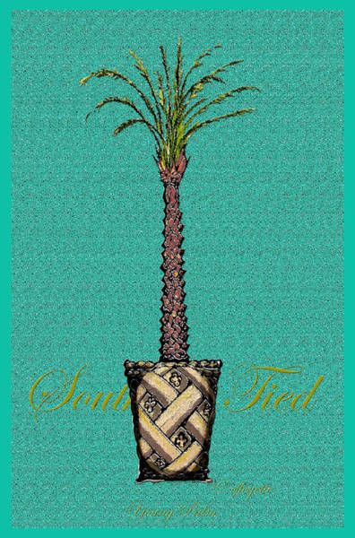 Southern Charm Digital Art - Young Palm by C F Legette