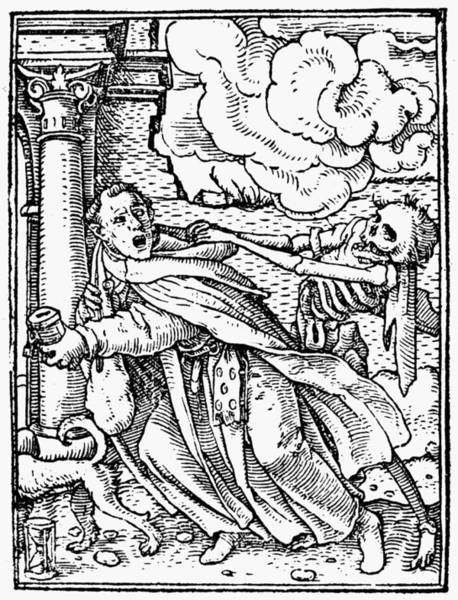 Wall Art - Drawing - Dance Of Death, 1538 by Granger