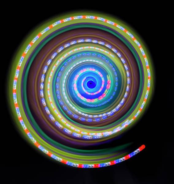 Wall Art - Photograph - Multicoloured Light Trails by Lawrence Lawry