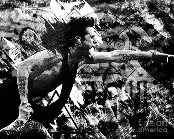 Jared Wall Art - Painting - 30 Seconds To Mars - Jared Leto by Ryan Rock Artist