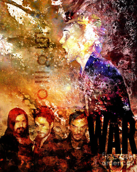 Jared Wall Art - Painting - 30 Seconds To Mars Painting Print by Ryan Rock Artist