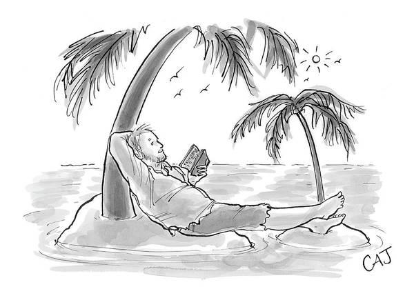 Lounging Drawing - New Yorker November 7th, 2005 by Carolita Johnson