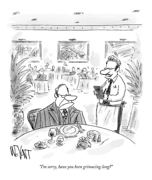 Dine Drawing - I'm Sorry, Have You Been Grimacing Long? by Christopher Weyant