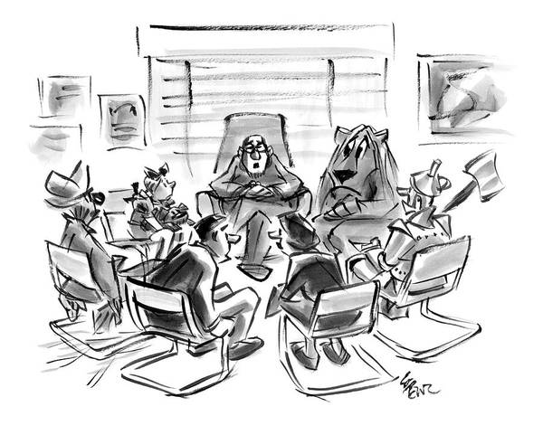 Wizard Drawing - New Yorker August 4th, 2008 by Lee Lorenz