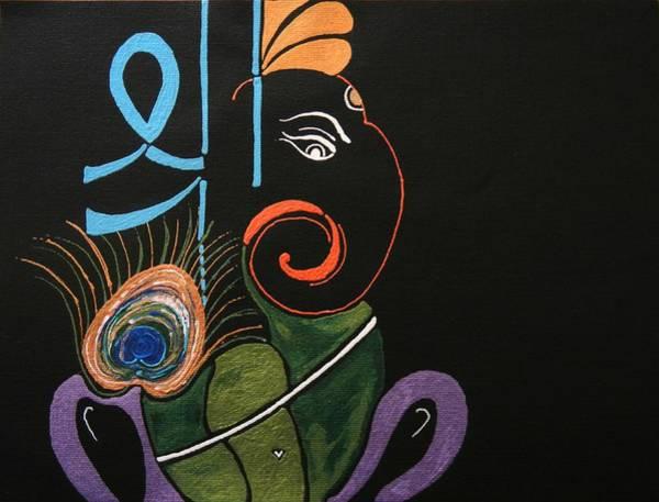 Ganesh Chaturthi Painting - 30 Vignaharta Ganesh by Kruti Shah