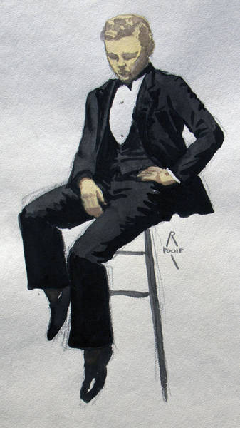 Painting - Gatsby Study 3 by Robert Poole