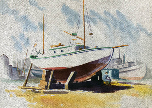 Tacoma Painting - The Shipyard by Frank Edward Poole