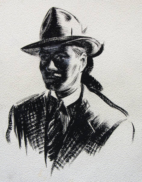 Painting - Secret Agent Study 3 by Robert Poole