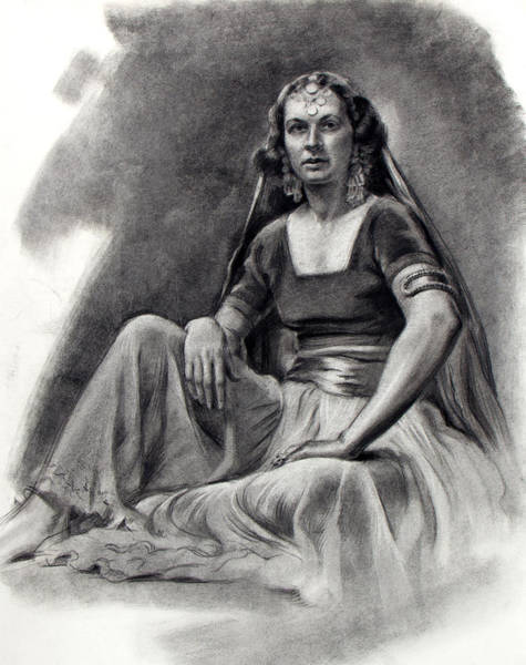 Drawing - Behind The Veil by Robert Poole