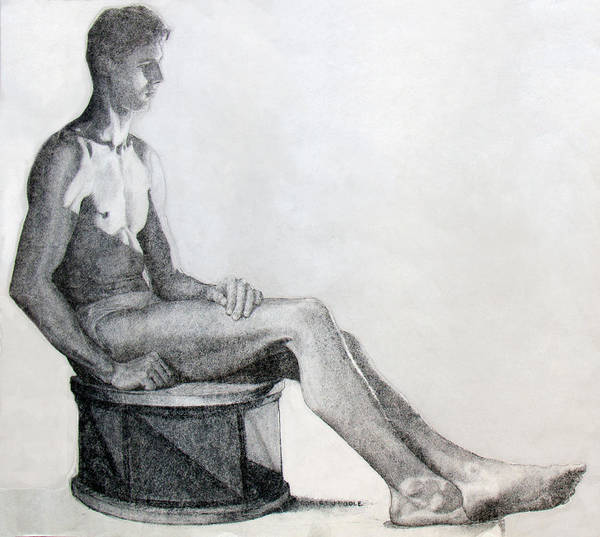 Drawing - Solitude by Robert Poole