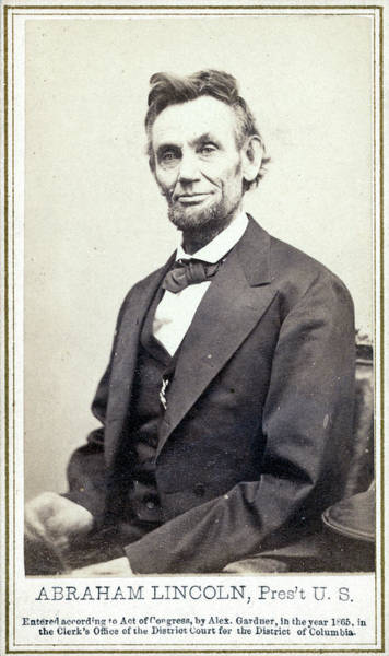 Photograph - Abraham Lincoln (1809-1865) by Granger