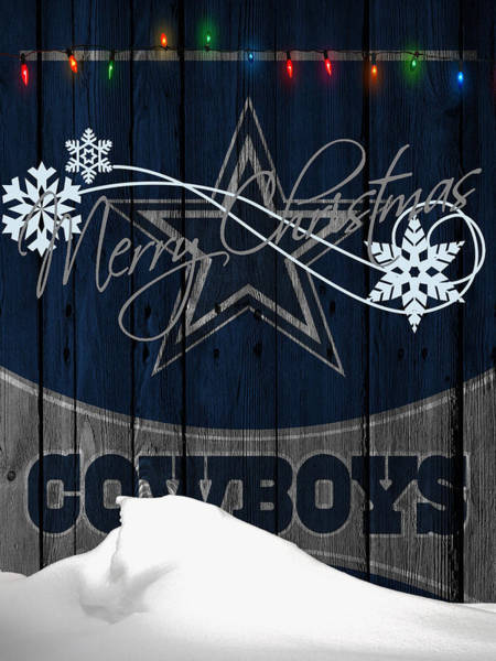 Santa Photograph - Dallas Cowboys by Joe Hamilton