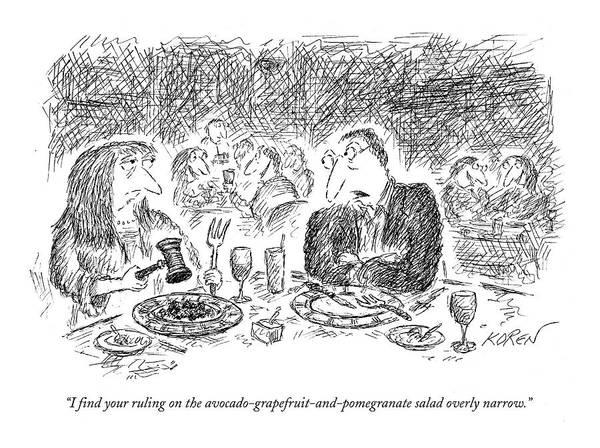 Salad Drawing - I Find Your Ruling by Edward Koren
