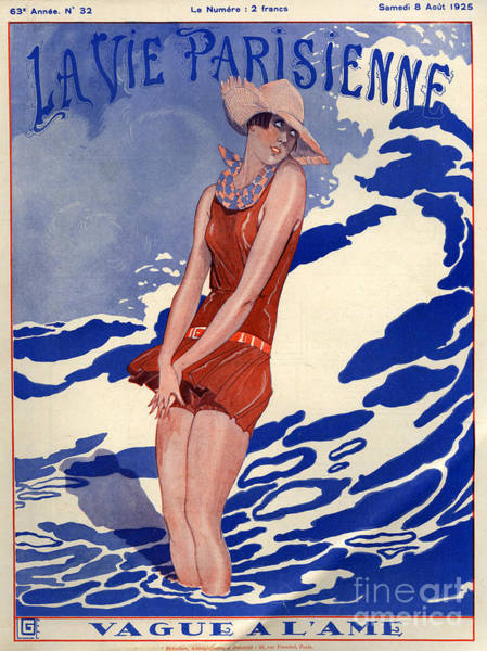 Frightening Drawing - 1920s France La Vie Parisienne Magazine by The Advertising Archives