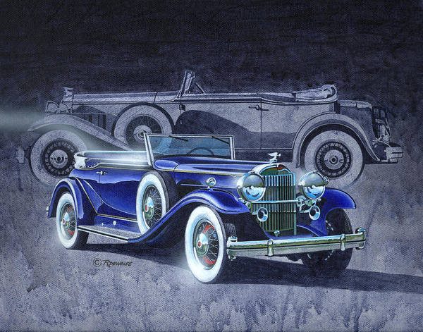 Historic Car Painting - 32 Packard by Richard De Wolfe