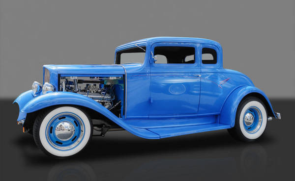 Street Rods Photograph - 1932 Pontiac Sport Coupe 5 Window by Frank J Benz