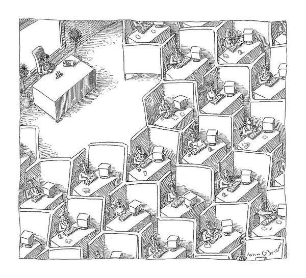 Architecture Drawing - New Yorker November 15th, 2004 by John O'Brien