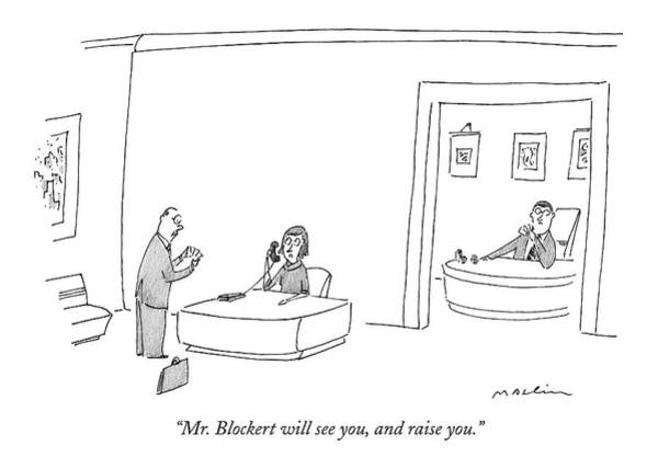 October 3rd Drawing - Mr. Blockert Will See by Michael Maslin