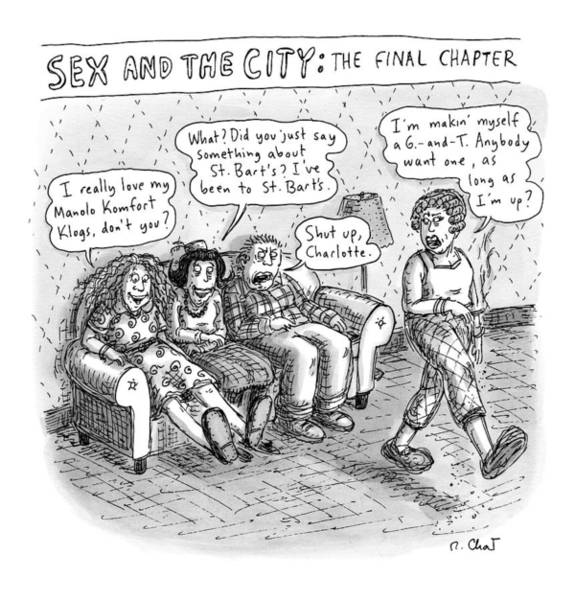 Friendship Drawing - New Yorker September 14th, 2009 by Roz Chast
