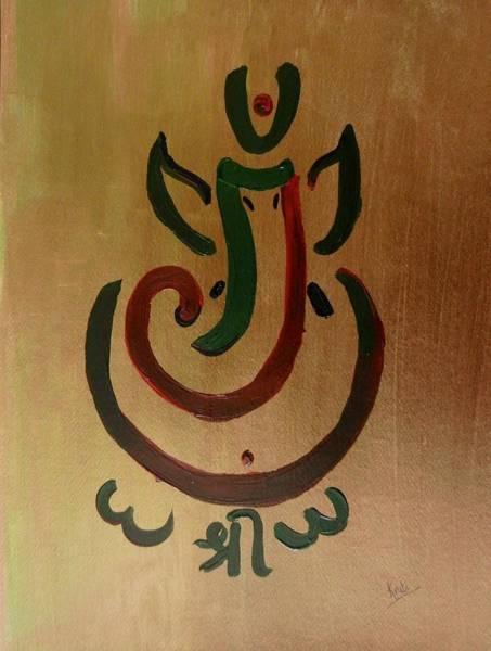 Ganesh Painting - 33 Rakta Ganesh by Kruti Shah