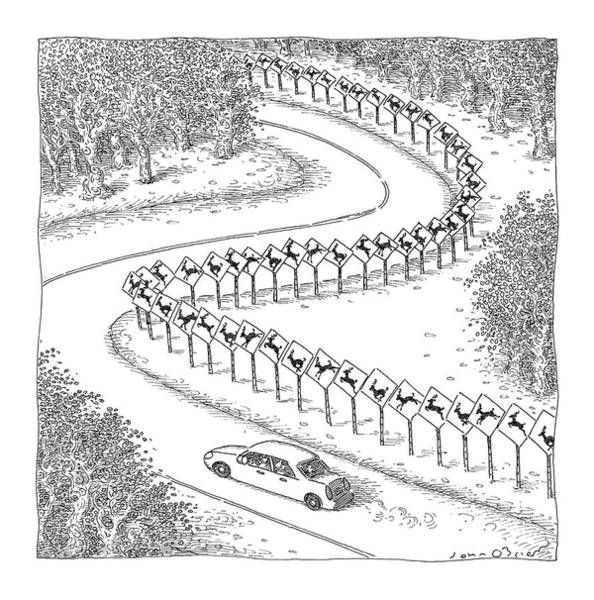 Auto Drawing - New Yorker December 6th, 2004 by John O'Brien