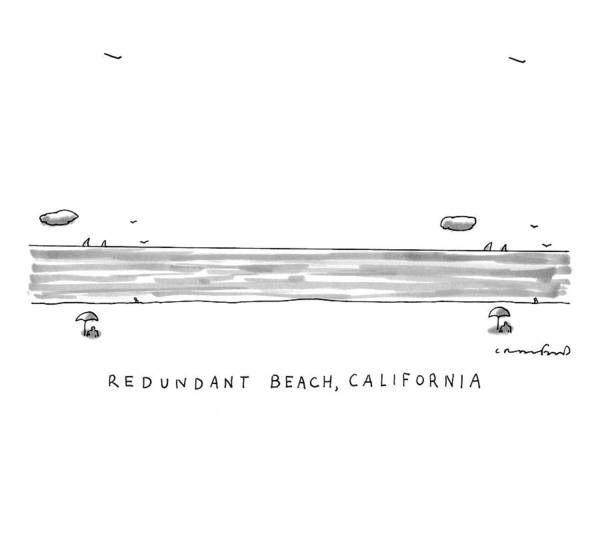 California Drawing - Captionless by Michael Crawford